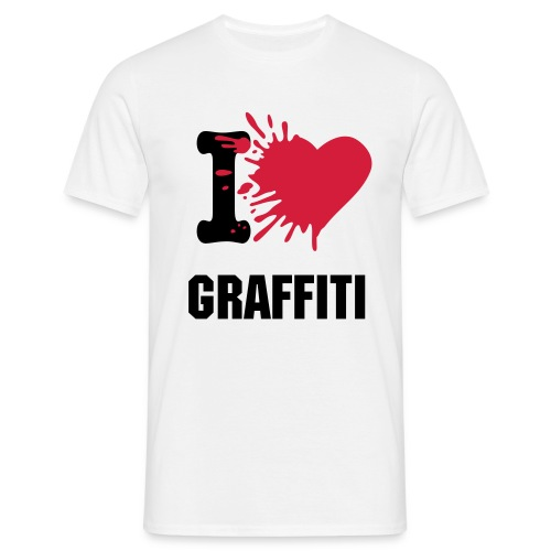 I Love Graffiti - Männer T-Shirt