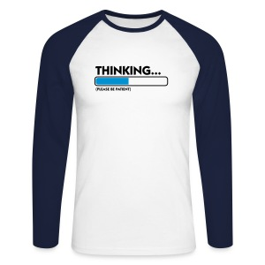 Men's Raglan Long Sleeve Thinking - Men's Long Sleeve Baseball T-Shirt