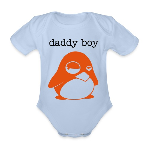 baby daddy boy  - Organic Short-sleeved Baby Bodysuit