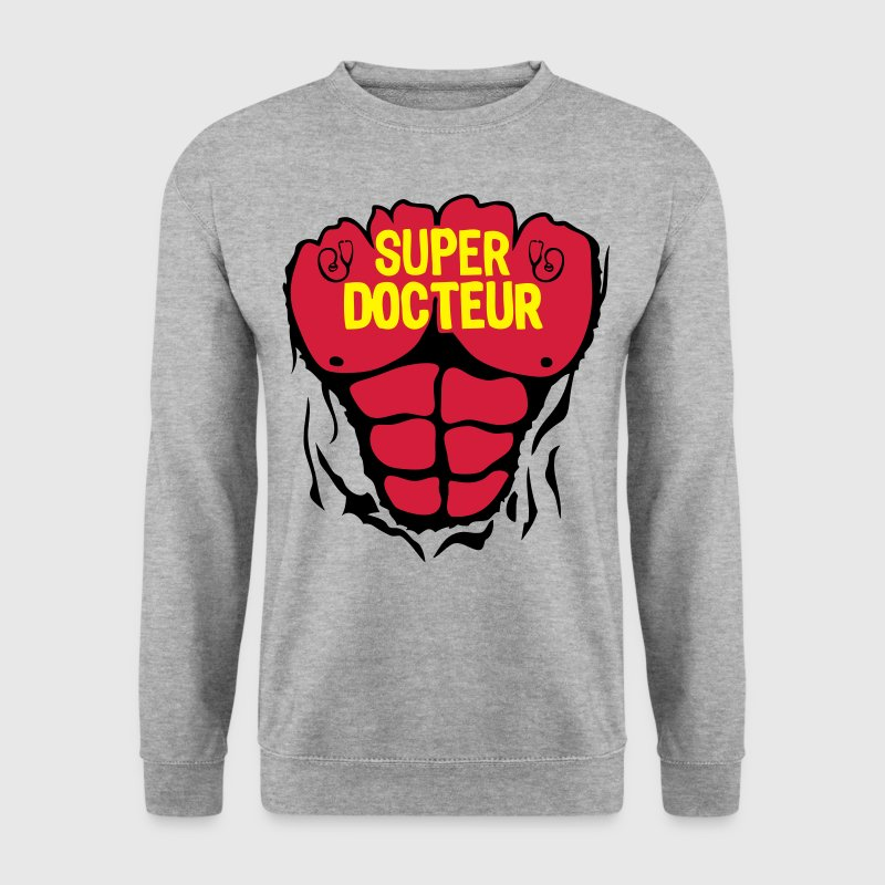docteur super corps muscle bodybuilding Sweat-shirts - Sweat-shirt Homme