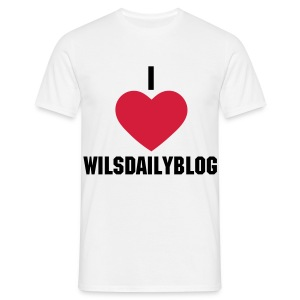 I love Willsdailyblog - Men's T-Shirt
