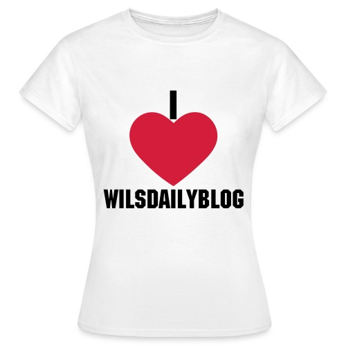 I love Willsdailyblog - Women's T-Shirt