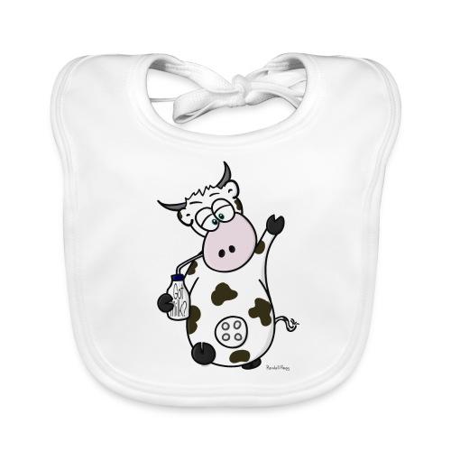 Bavez sur MeuhNox La Vache - Bavoir bio Bébé