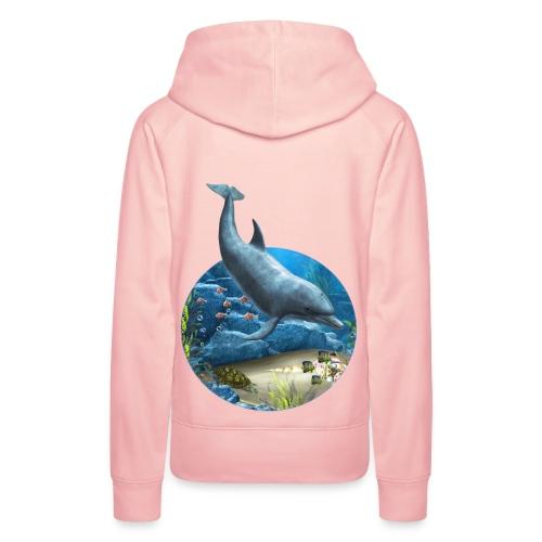 The world of the Dolphin - Frauen Premium Hoodie