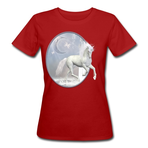 White Unicorn - Frauen Bio-T-Shirt