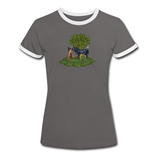 The Last Black Unicorn - Frauen Kontrast-T-Shirt