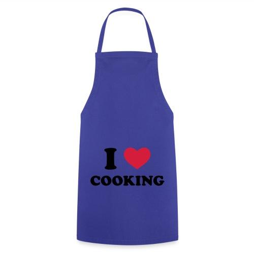Paars schort- I Love Cooking - Keukenschort
