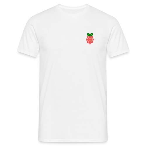 Men's Raspberry Classic T Shirt - White - Men's T-Shirt