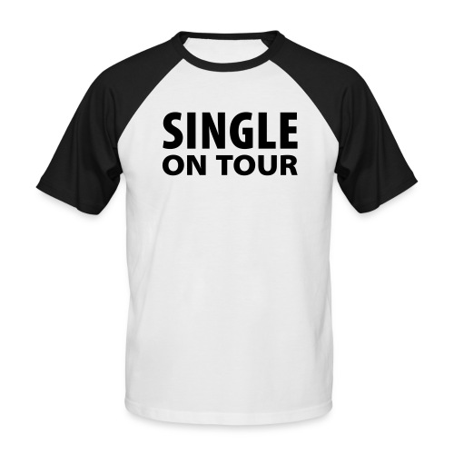 Single on tour.. Shit Happends - Mannen baseballshirt korte mouw