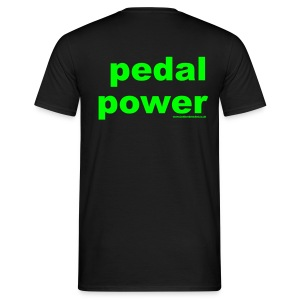 Pedal Power T - Print on Back - Men's T-Shirt