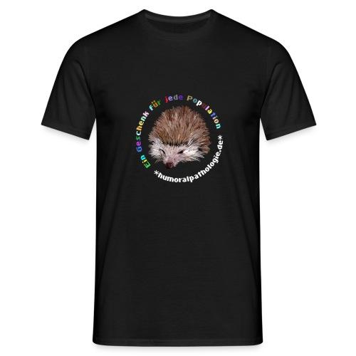 Schwarzes Shirt mit bunter Schrift (klassisch) - Männer T-Shirt