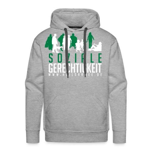 Soziale Gerechtigkeit (grün/weiß) - Männer Premium Hoodie