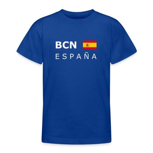 Teenager T-Shirt BCN ESPAÑA white-lettered - Teenage T-Shirt