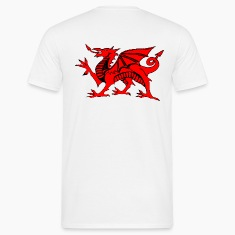 welsh red dragon uk gents boxing t-shirts