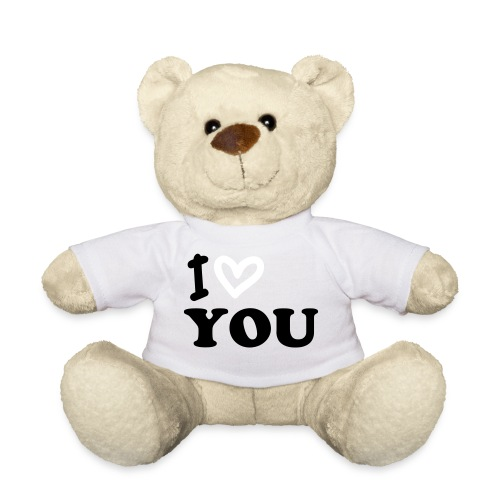 Teddybear rood- I Love You - Teddy