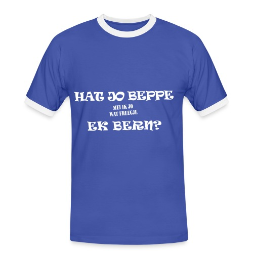 Fries Shirt Beppe Blauw - Mannen contrastshirt