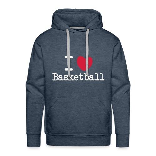 I love Basketball - Herre Premium hættetrøje