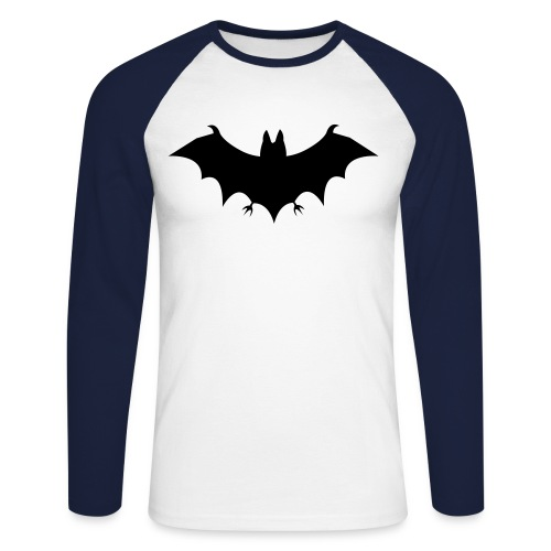 Bat Long Sleeve Double Colour Shirt - Men's Long Sleeve Baseball T-Shirt
