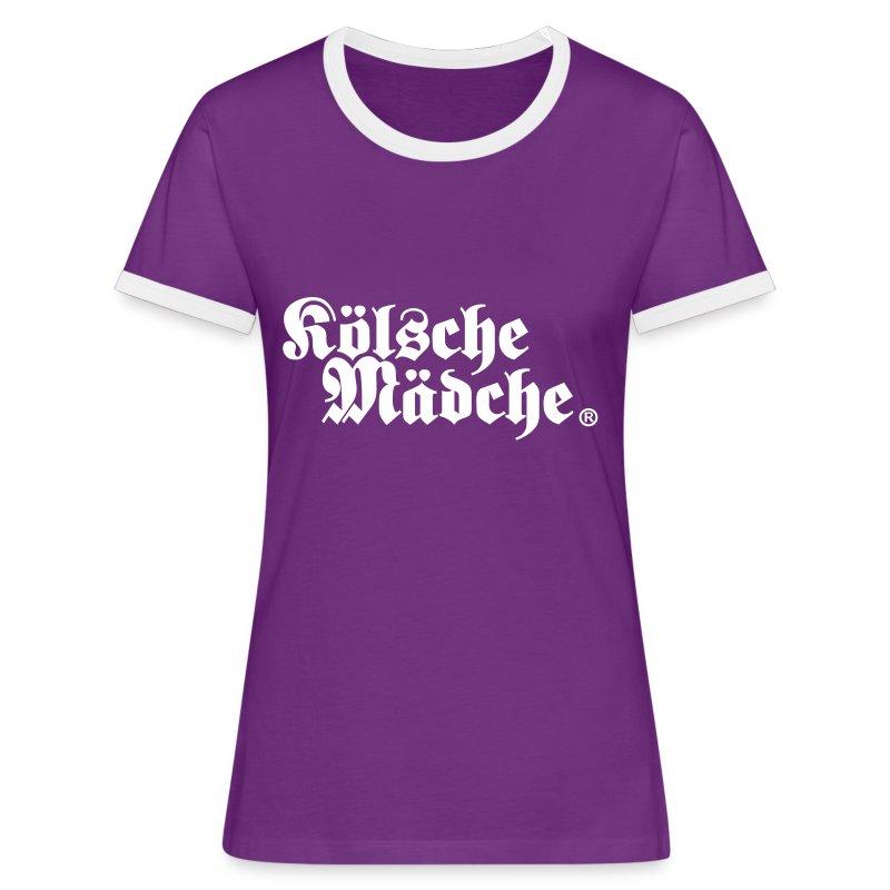 Kölsche Mädche Classic - Frauen Kontrast-T-Shirt