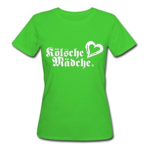 Kölsche Mädche Herz - Frauen Bio-T-Shirt
