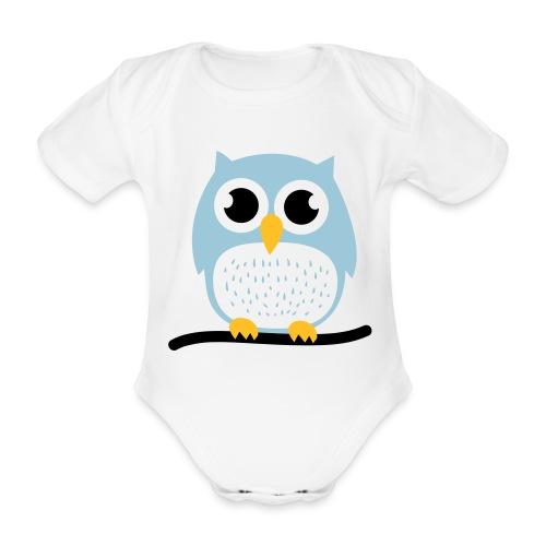 'Cute Owl' T-shirt - Organic Short-sleeved Baby Bodysuit