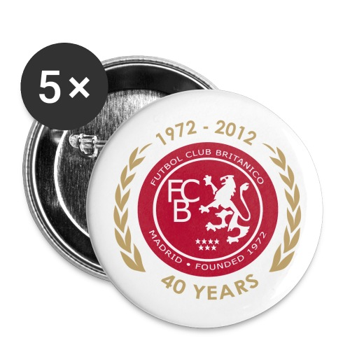 FC Británico de Madrid 40th Anniversary Badges - Buttons small 25 mm
