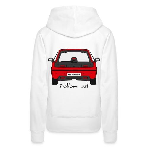 Sweat à capuche femme - Follow us! - Sweat-shirt à capuche Premium pour femmes