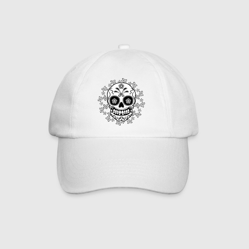 Sugar Skull Caps & Hats - Baseball Cap