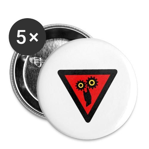 Ingranaggio Rock - Spilla piccola 25 mm