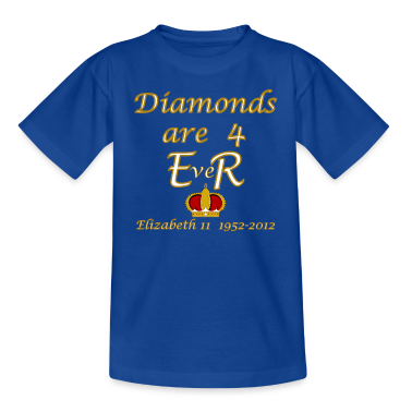 diamonds are 4 ER jubilee 1952_2012 Kids' Shirts