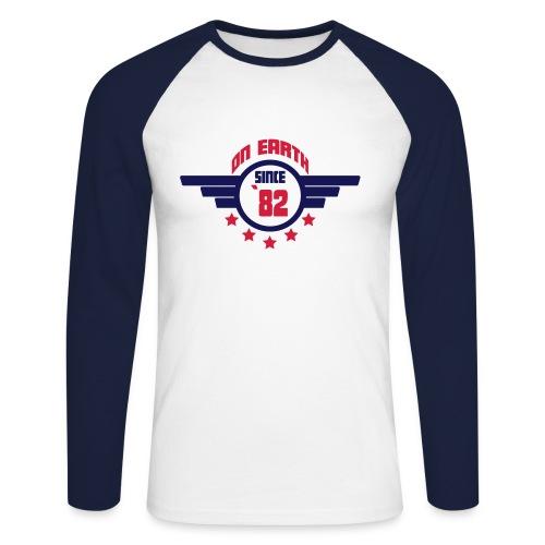 On Earth 82 - Men's Long Sleeve Baseball T-Shirt
