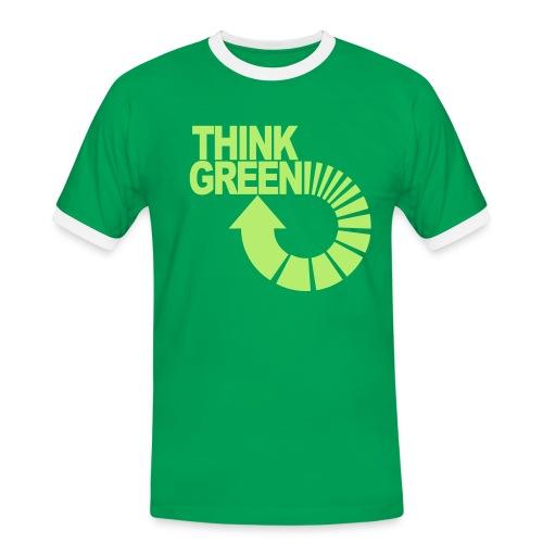 ajattele vihreää - Miesten kontrastipaita