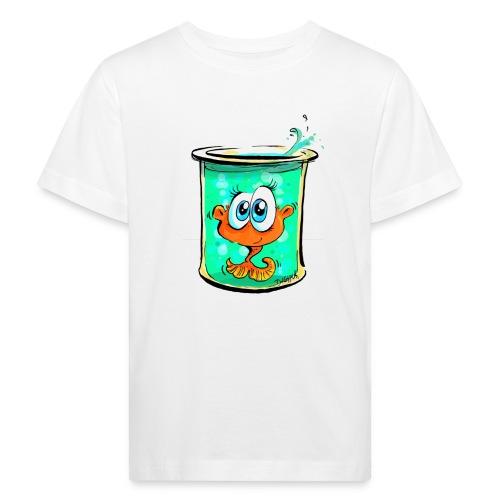 Fischlein im Glas - Kinder Bio-T-Shirt