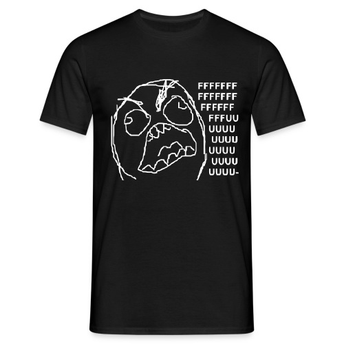 FUUU Rageguy T-Shirt Black/White Boys  - Männer T-Shirt