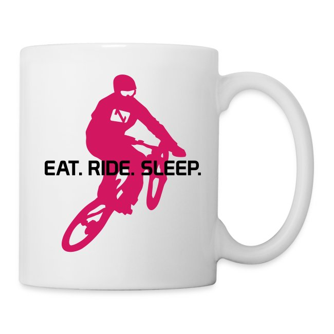 """Eat. Ride. Sleep."""