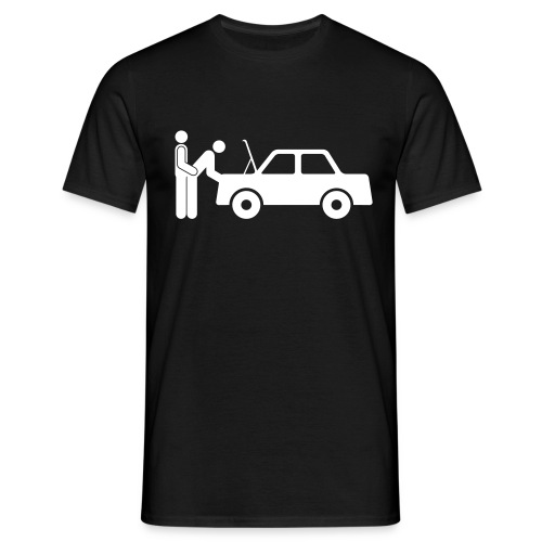 A man, a woman and a car... - Men's T-Shirt