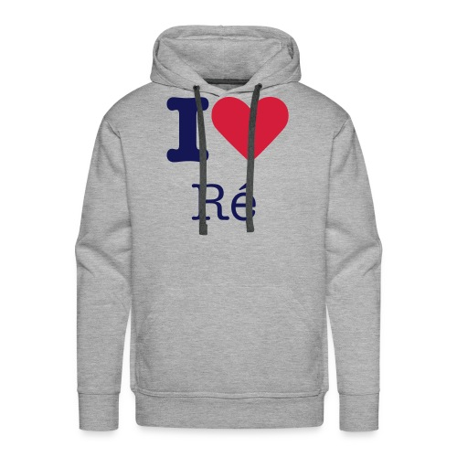 I Love Ré navy Sweat Homme - Sweat-shirt à capuche Premium pour hommes