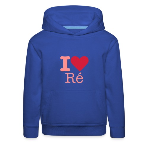 I Love Ré rose Sweat Enfant - Pull à capuche Premium Enfant