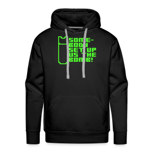 Somebody Set Us Up the Bomb! (neon) - Men's Premium Hoodie