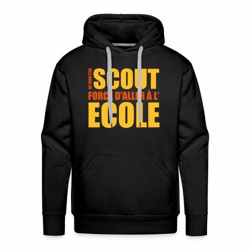 Né pour être Scout - Sweat-shirt à capuche Premium pour hommes
