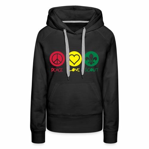 Peace Love Scout (Color) - Sweat-shirt à capuche Premium pour femmes