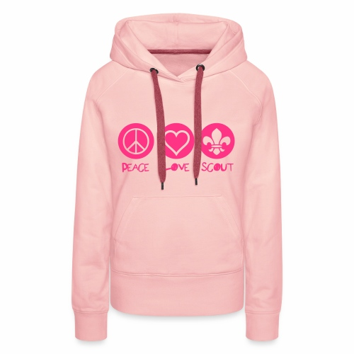 Peace Love Scout - Sweat-shirt à capuche Premium pour femmes