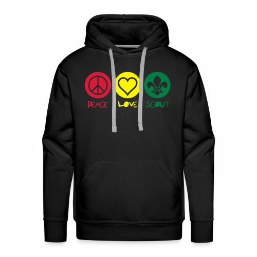 Peace Love Scout (Color) - Sweat-shirt à capuche Premium pour hommes