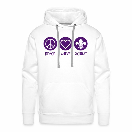 Peace Love Scout - Sweat-shirt à capuche Premium pour hommes