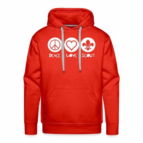 Peace Love Scout - Sweat-shirt à capuche Premium pour hommes