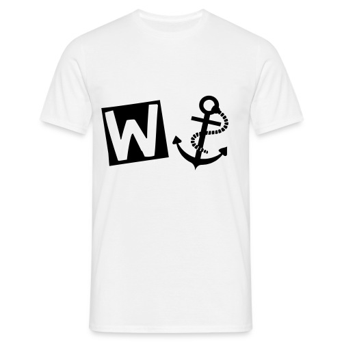 Mens W-Anchor Tee Black/White - Men's T-Shirt