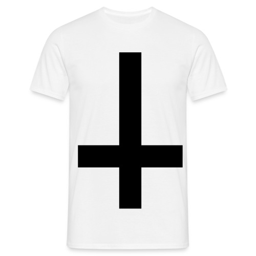 Mens Upside Down Cross Tee Black/White - Men's T-Shirt