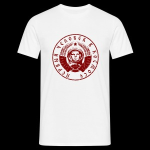 Kosmonaut 1c red (oldstyle) - Men's T-Shirt