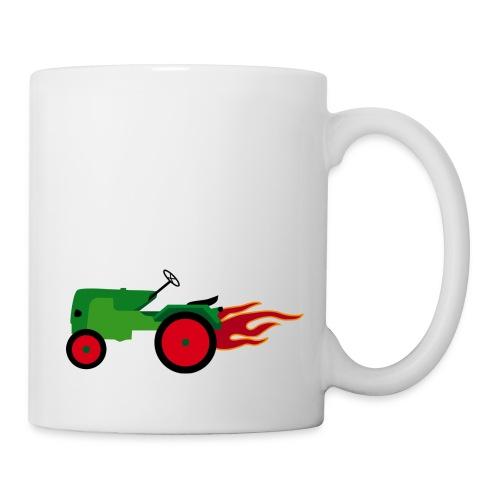 Traktor grün - Tasse