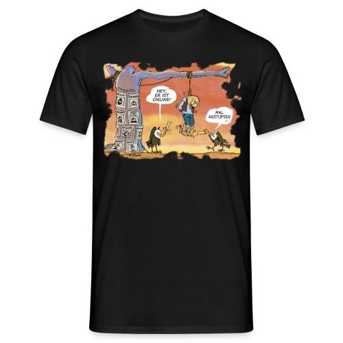 Mal anstupsen ... - Männer T-Shirt